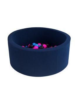 Suchy basen z piłeczkami Okrągły Smart Granatowy 100x40 MISIOO