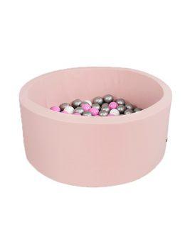 Suchy basen z piłeczkami Okrągły Smart Różowy 100x40 MISIOO