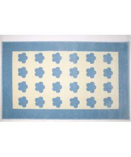 Dywan Akrylowy Nubes, niebiesko-biały w niebieskie chmurki