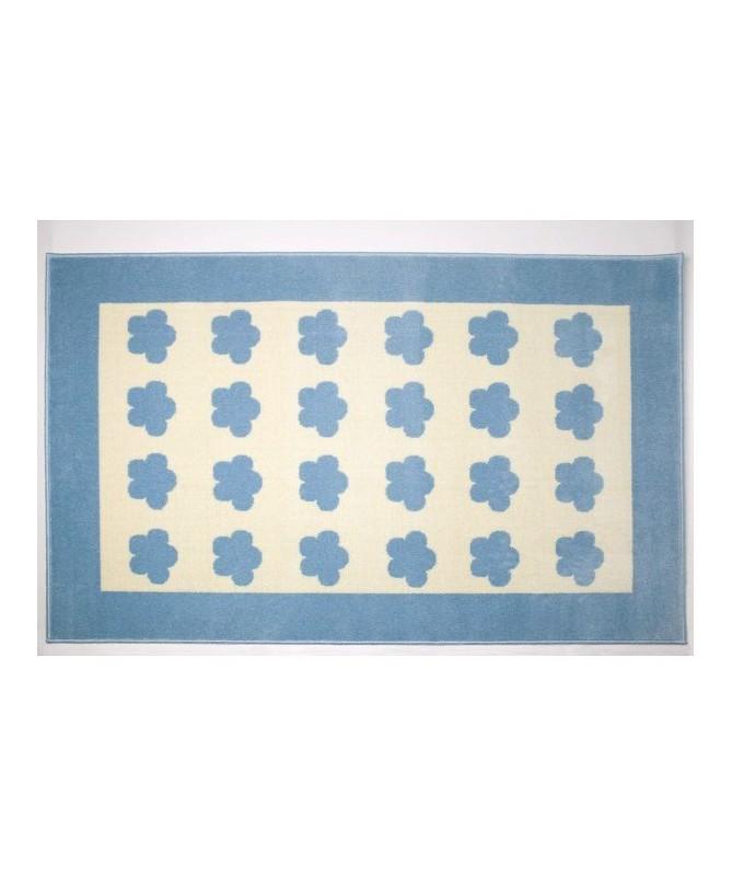 Dywan NUBES, niebiesko-biały w niebieskie chmurki, akrylowy 140X 200 cm Lorena Canals