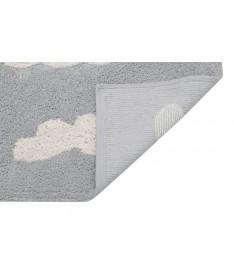 Dywan Cloud Grey, 100% bawełny, do prania w pralce, 120x160 cm, Lorena Canals