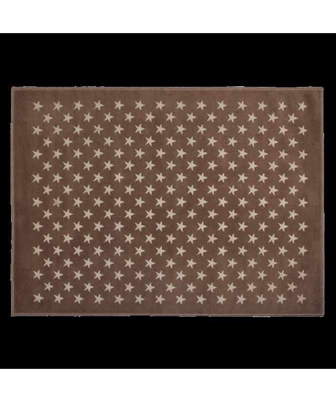 Dywan ESTRELLITAS jasno brązowy w białe gwiazdki 100% akryl ,  120X 160 cm Lorena Canals