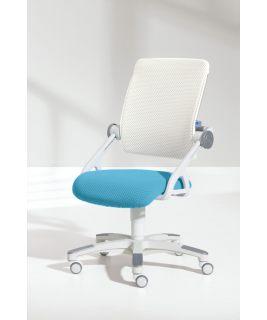 Krzesło regulowane Yvo lazurowo niebieskie/białe PAIDI