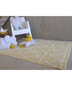 Hippy Yellow, dywan bawełniany żółty, 120 x 160cm Lorena Canals