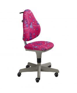 Krzesło regulowane Pepe jednorożec/różowy PAIDI