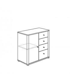 Komoda szafka + 4 szuflady PAIDI FLEXIMO