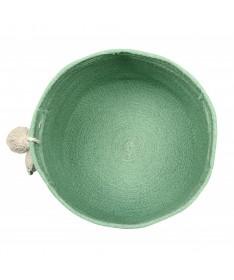 Kosz Leaf Green, 100% bawełna 30x30x30cm,  Lorena Canals