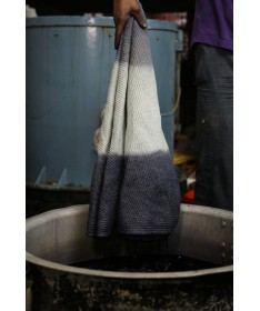Dywan bawełniany TIE-DYE Vintage Blue