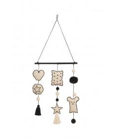 Dekoracja na ścianę Wall Hanging Baby, 100% bawełna 60(90)x40cm,  Lorena Canals