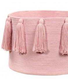 Kosz Basket Tassels Pink
