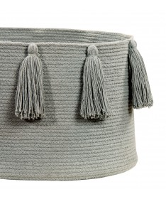 Kosz Basket Tassels Light Grey