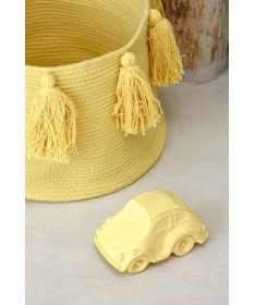 Kosz Basket Tassels Yellow
