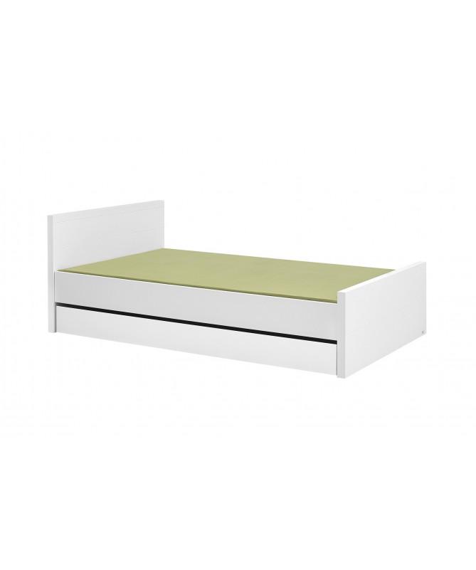 Białe łóżko 120x200 Lara Pinio