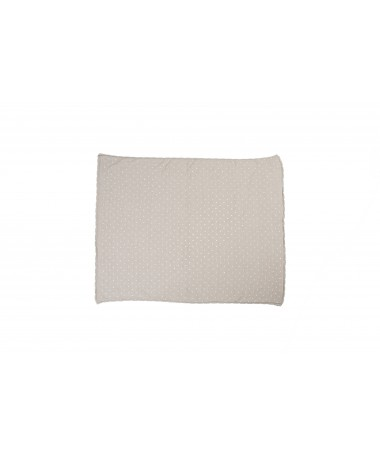 Knitted baby blanket Biscuit Dune White