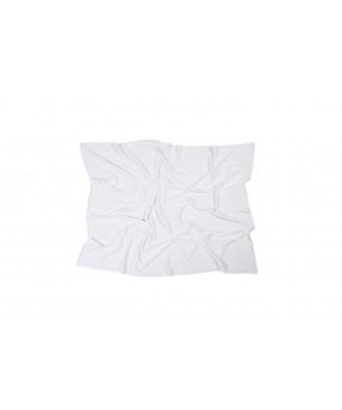 Knitted baby blanket Biscuit White