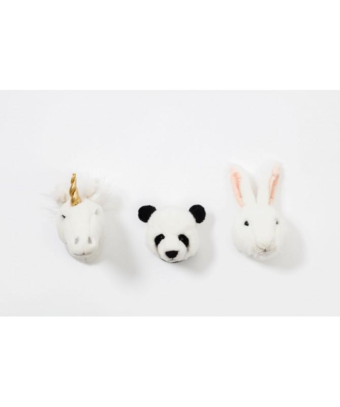 Zestaw 3 małych trofeów Lovely, Wild&Soft - Panda, Jednorożec, Królik