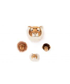 Zestaw 3 małych trofeów Jungle od Wild&Soft - Lew, Tygrys, Małpa