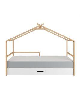Łóżko z szufladą dla dziecka w kształcie domku TeePee, Bellamy