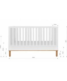 Łóżeczko dla dziecka 70x140 z funkcją sofy Toteme Cube, Bellamy
