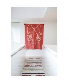 Dekoracja na ścianę Giant Lobster Brick Red