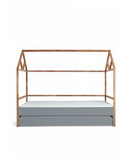Łóżko domek 90x200 z szufladą LOTTA GREY Bellamy