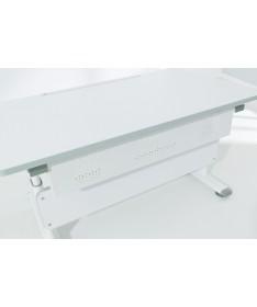 Biurko DIEGO dąb Nautik 105 cm PAIDI stelaż biały