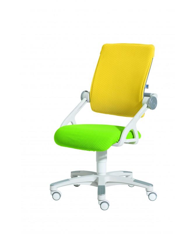 Krzesło regulowane YVO żółto-zielone Paidi