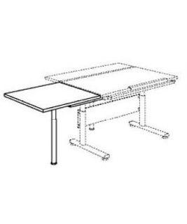 Dostawka do biurka Marco kwadrat Klon PAIDI