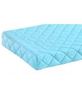 Materac TWIN w błękitnym pokrowcu bawełnianym 90x190 PAIDI