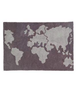 Dywan WORLD MAP, 100%bawełna, do prania w pralce,140x200cm, Lorena Canals