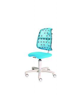 Krzesło regulowane SINO azure blue/X-grey