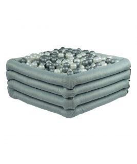 Suchy basen z piłeczkami Kwadrat Comfort Plus Jasnoszary MISIOO