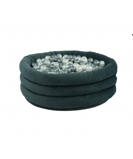 Suchy basen z piłeczkami Okrągły Comfort Plus Szary MISIOO