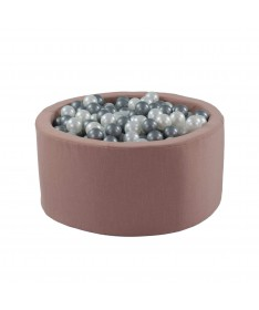 Suchy basen z piłeczkami Okrągły Eko Różowy MISIOO