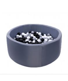 Suchy basen z piłeczkami Okrągły 115x50 Active Granatowy MISIOO