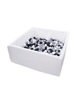 Suchy basen z piłeczkami Kwadrat 110x110x50 Active  MISIOO