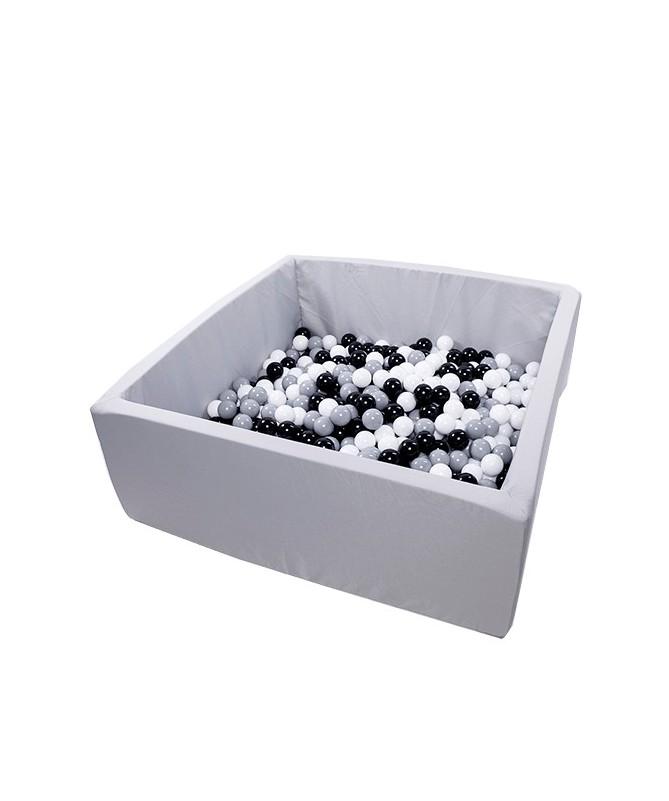 Suchy basen z piłeczkami Kwadrat 130x130x50 Active Jasnoszary MISIOO