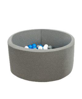 Suchy basen z piłeczkami Okrągły Smart Szary 100x40 MISIOO
