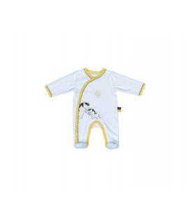Pyjama velvet zebra - newborn PLUCHE ET POMPON