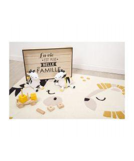 Carpet 90x130 cm PLUCHE ET POMPON