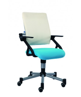 Krzesło regulowane Tio lazurowo niebieskie/białe PAIDI