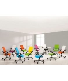 Krzesło regulowane Tio lazurowo niebieskie/białe