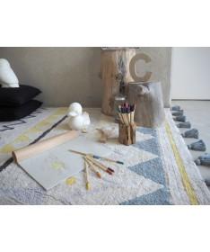 Dywan Azteca Natural Vintage Blue 100% bawełny, do prania w pralce, 140x200 cm, Lorena Canals
