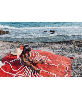 Mata plażowa Giant Lobster Brick Red