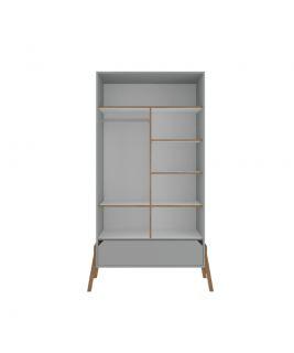 Lotta grey szafa 2-drzwiowa Bellamy wnętrze