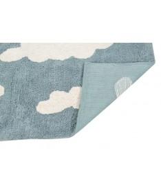 Dywan Cloud Vintage Blue 100% bawełny, do prania w pralce, 120x160 cm, Lorena Canals