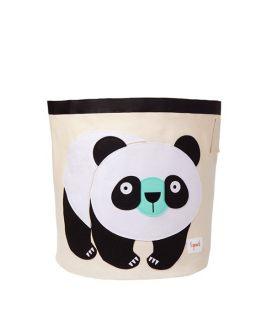 3 Sprouts Kosz na Zabawki Panda