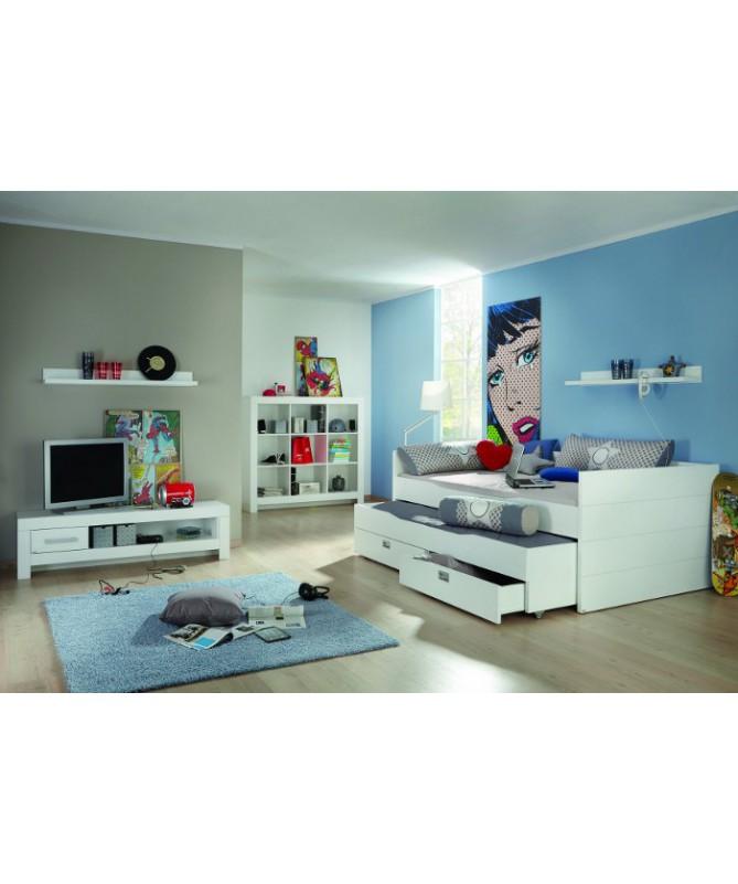 Łóżko podwyższone CABIN 90x200cm, Fiona, Paidi