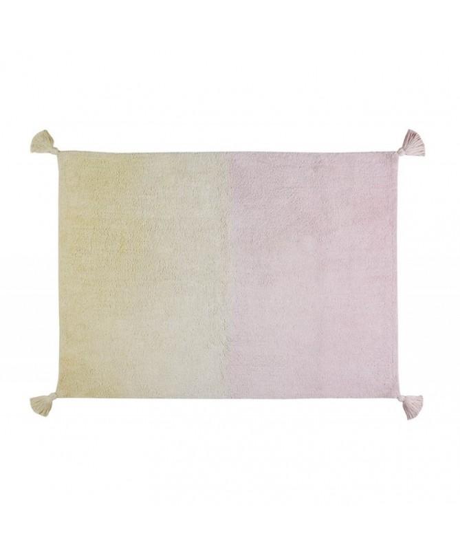 Dywan DEGRADE vanilla/soft pink, 100% bawełny, do prania w pralce, 120X 160 cm Lorena Canals
