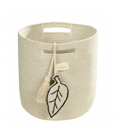 Kosz Leaf Natural, 100% bawełna 30x30x30cm,  Lorena Canals